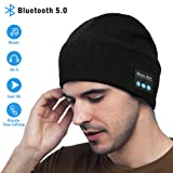 Bluetooth Beanie Hat V5.0 Stocking Stuffers for Men Gifts Wireless Music Hat Knit Cap Built-in Stereo Speaker Unique Christmas Tech Gag Gifts for Boyfriend/Him/Men/Teen