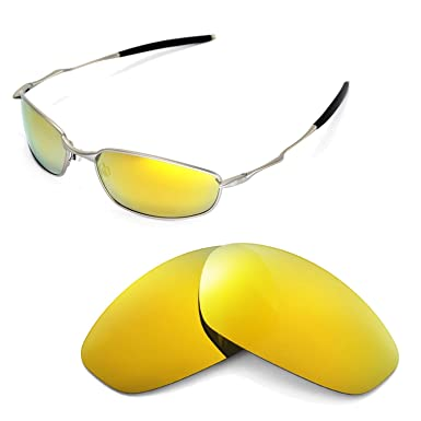 5391ff7c2d Walleva Replacement Lenses for Oakley Whisker Sunglasses - Multiple Options  (24K Gold Mirror Coated - Polarized)  Amazon.co.uk  Clothing