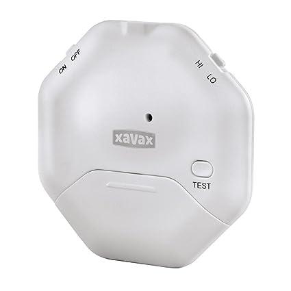 Xavax - Alarma de Rotura de Cristal para Ventanas o Puertas de Cristal con Sensor de sacudidas, diseño Plano (Ideal para Puertas correderas)