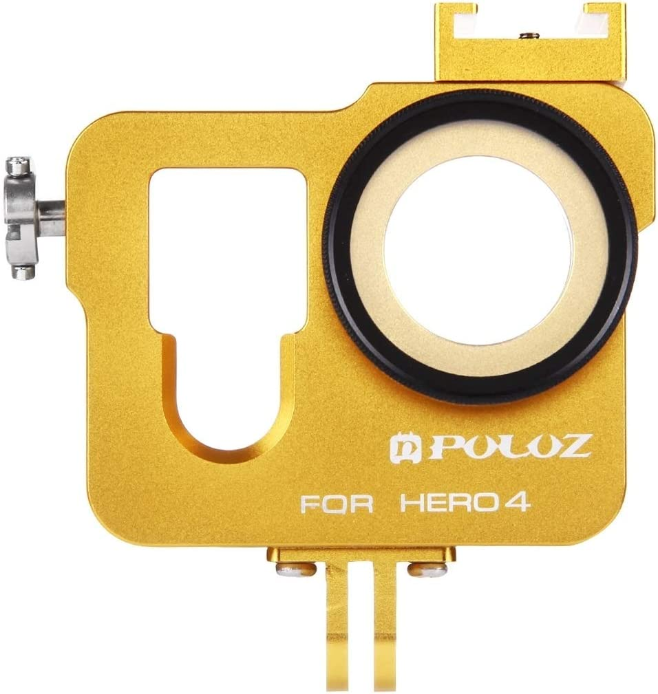 Color : Gold ZMKK Housing Shell CNC Aluminum Alloy Protective Cage with 37mm UV Lens Filter /& Lens Cap