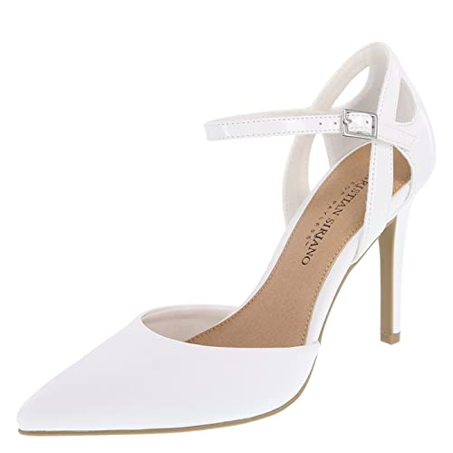 0ee39ddb95e4 Christian Siriano for Payless Women s White Klarissa 2-Piece Pump 8 Regular