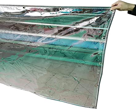 YXX-Lonas Lona transparente de alta resistencia para toldos, empalme, toldo para toldos, lona impermeable a prueba de lluvia de PVC con ojales para patio de jardín (Tamaño : 1.9x5m): Amazon.es: Bricolaje y