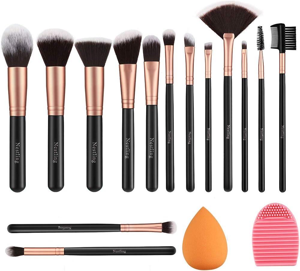 lot de 14 pinceaux maquillage en promotion