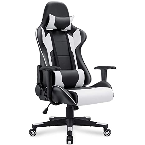 Amazon Com Homall Gaming Chair Racing Style High Back Pu Leather