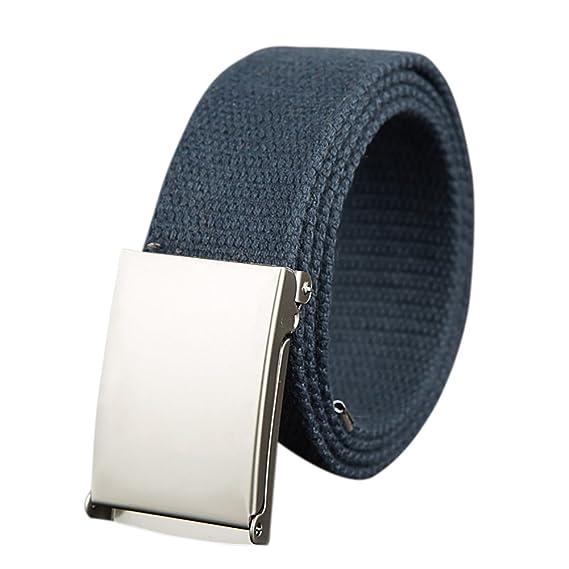 ishine cinturones hombre elasticos Moda Mujer Cinturones de Lona con Metal  Hebilla para Pantalones  Amazon.es  Ropa y accesorios 0d053691f1fd