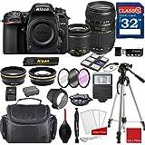 Nikon D7500 DX-format Digital SLR w/AF-P DX NIKKOR 18-55mm f/3.5-5.6G VR Lens & Tamron 70-300mm f/4-5.6 Di LD Macro Autofocus Lens + Professional Accessory Bundle