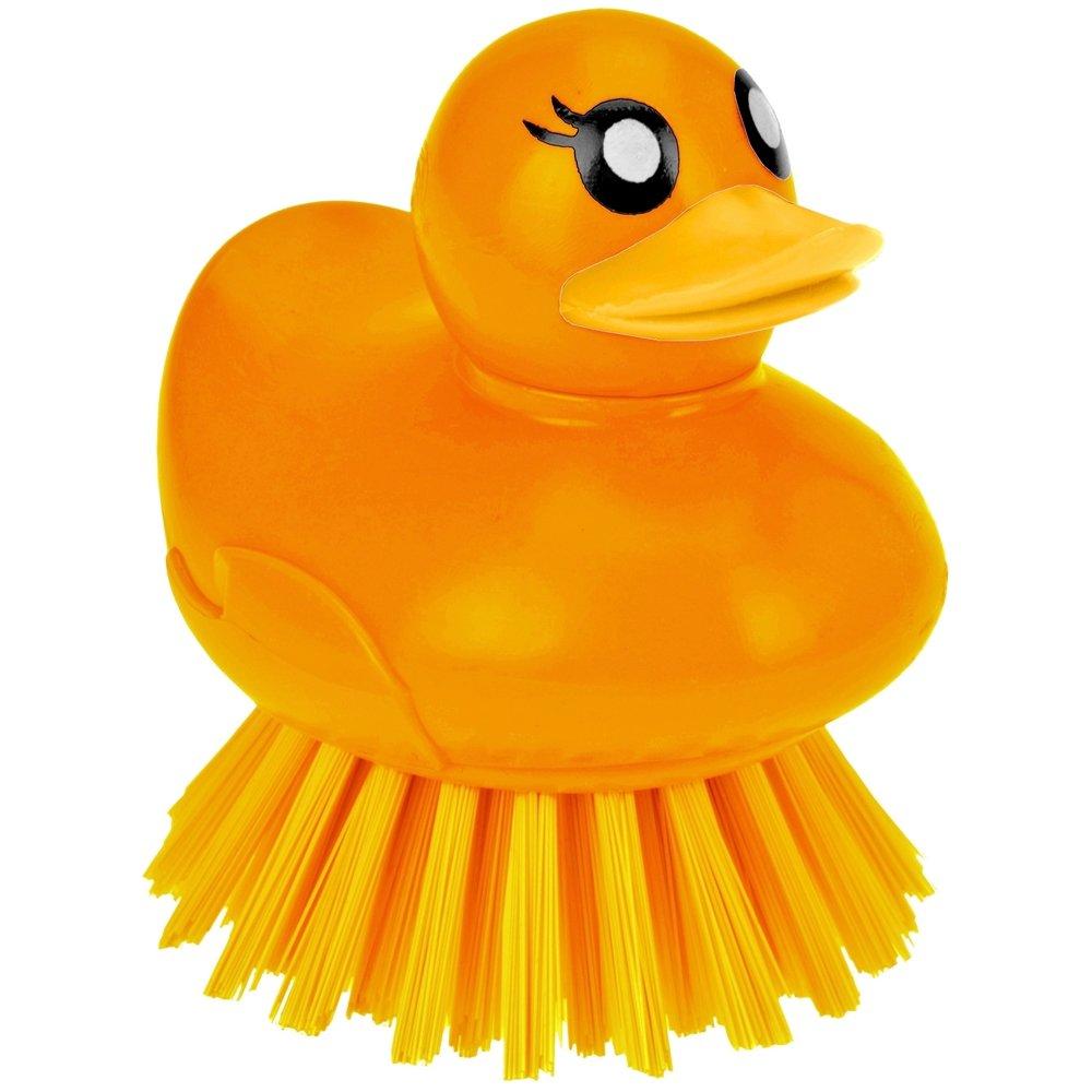 Brosse M/énag/ère Ludique Forme Canard Vaisselle Nettoyage Evier Lavabo Baignoire Orange Promobo