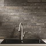 Aspect Peel and Stick Stone Overlay Kitchen Backsplash -...
