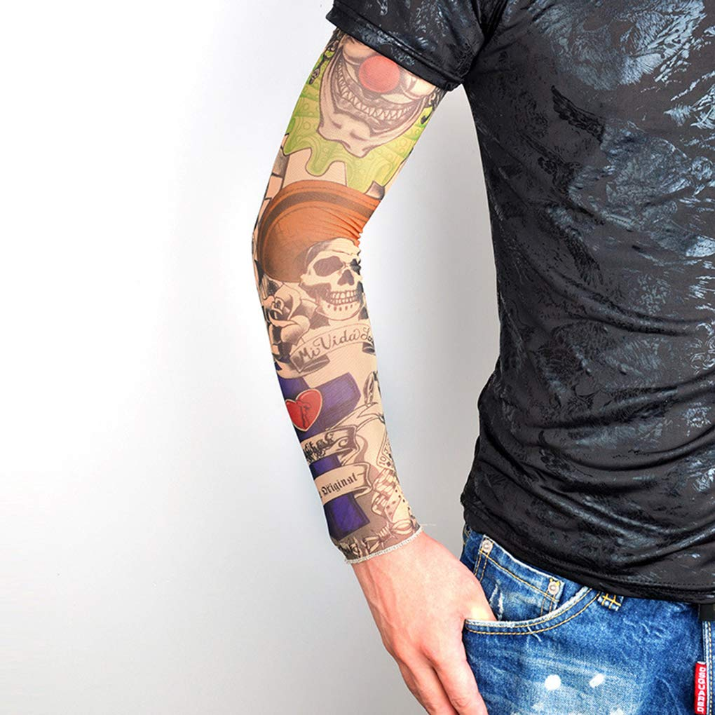 Tatuaje al aire libre manga Nylon brazo calentador sol protector ...