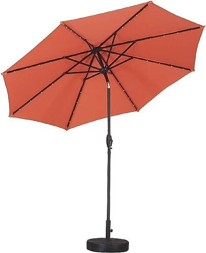 Leisurelife 9' Patio Umbrella Orange