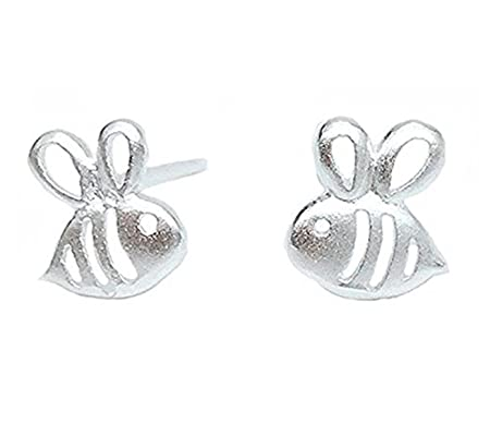 Fablcrew Cute Cat Stud Earrings Silver Five-pointed Star Shape Ear Nail for Women Jewelry Gift (White) WEk0V9KY