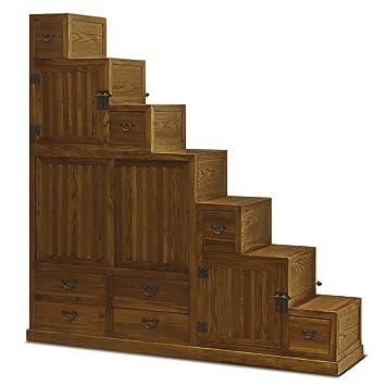 Amazing China Furniture Online Elmwood Tansu Cabinet, 68 Inches Japanese Style Step  Tansu Chest Walnut Finish