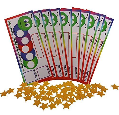 (Kenson Kids I Can Do It! Caterpillar Token Board (10 Pack))