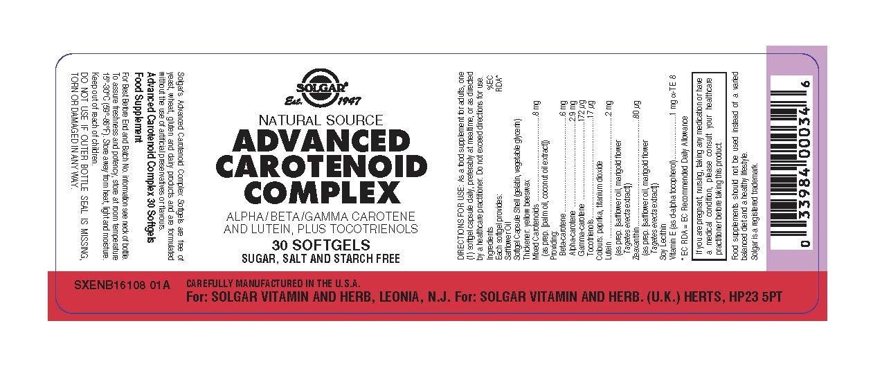 Solgar Carotenoide Complex Avanzado - 30 Cápsulas: Amazon.es: Salud y cuidado personal