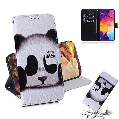 coque samsung a50 portefeuille panda