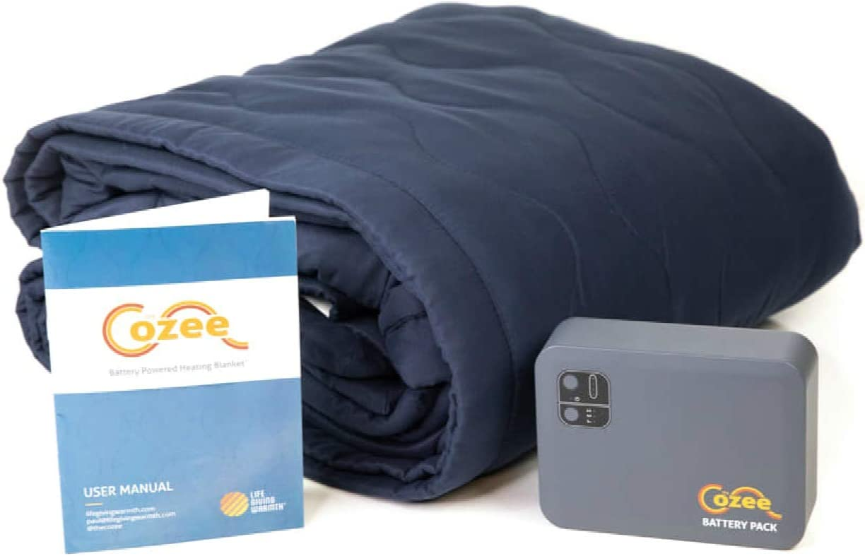 Cozee battery operated heated blanket