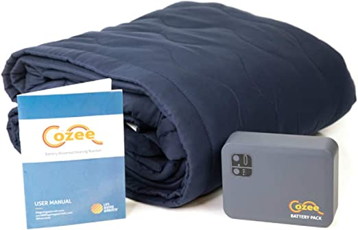 Amazon Com Battery Operated Heated Blanket Soft Fleece Throw For