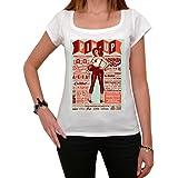 Poster Pin-up retro vintage T-shirt Femme,Blanc, t shirt femme,cadeau