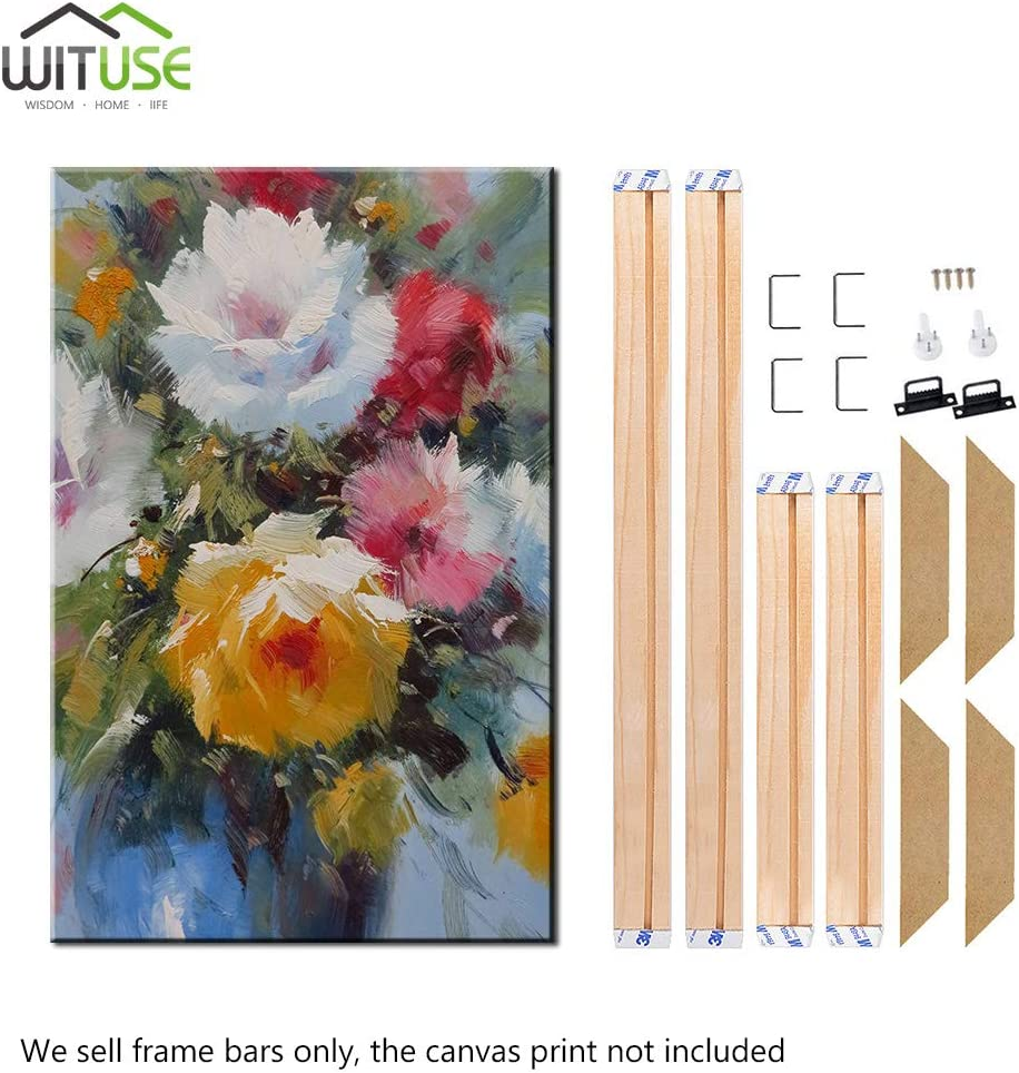 WITUSE Wood Stretcher Bars Painting Canvas Wooden Frame for Gallery Wrap Oil Painting,Painting Stretcher Bars DIY,Canvas Mounting Frames,10x22