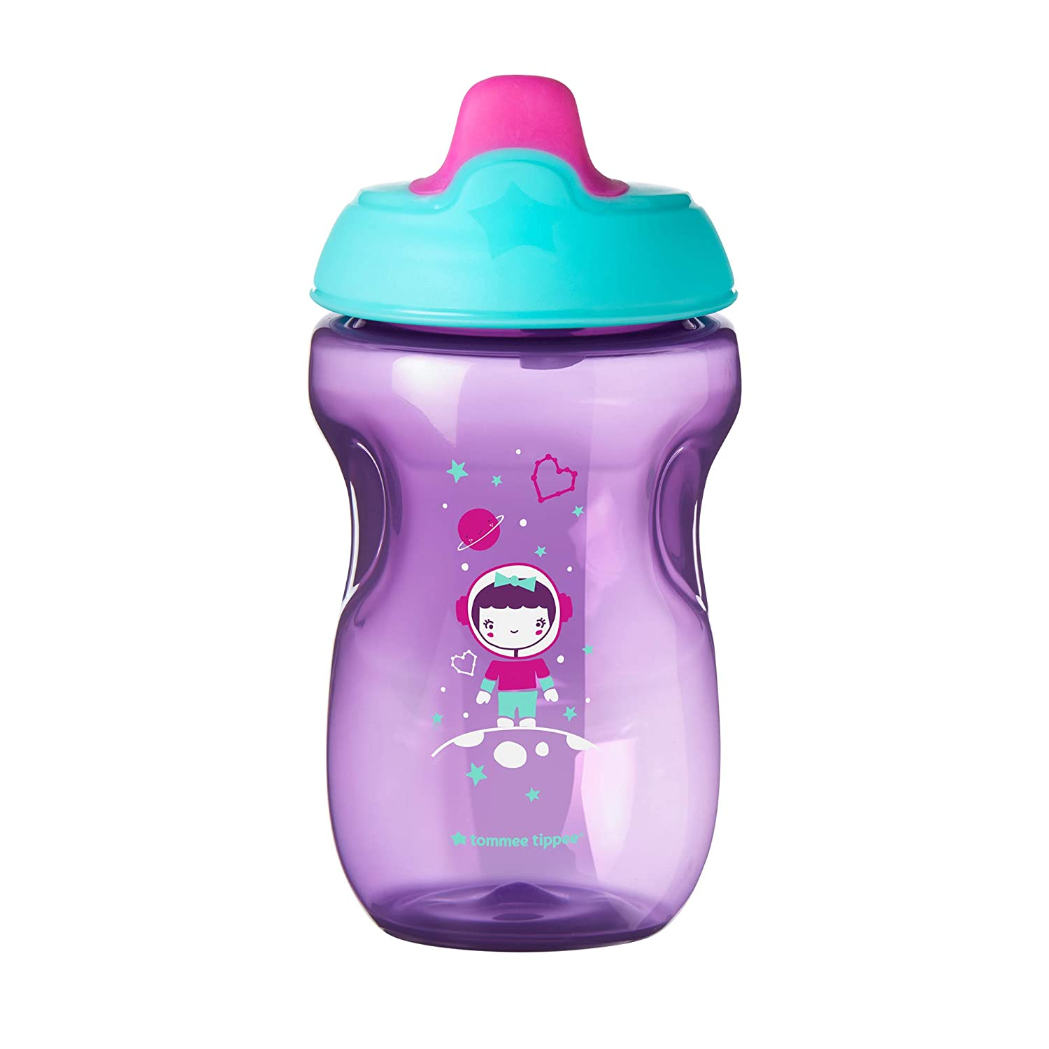 Tommee Tippee Non-Spill Toddler Sippee Cup, 9+ Months, 10 Oz, 3 Count, Girl, Pink/Purple/Green : Baby