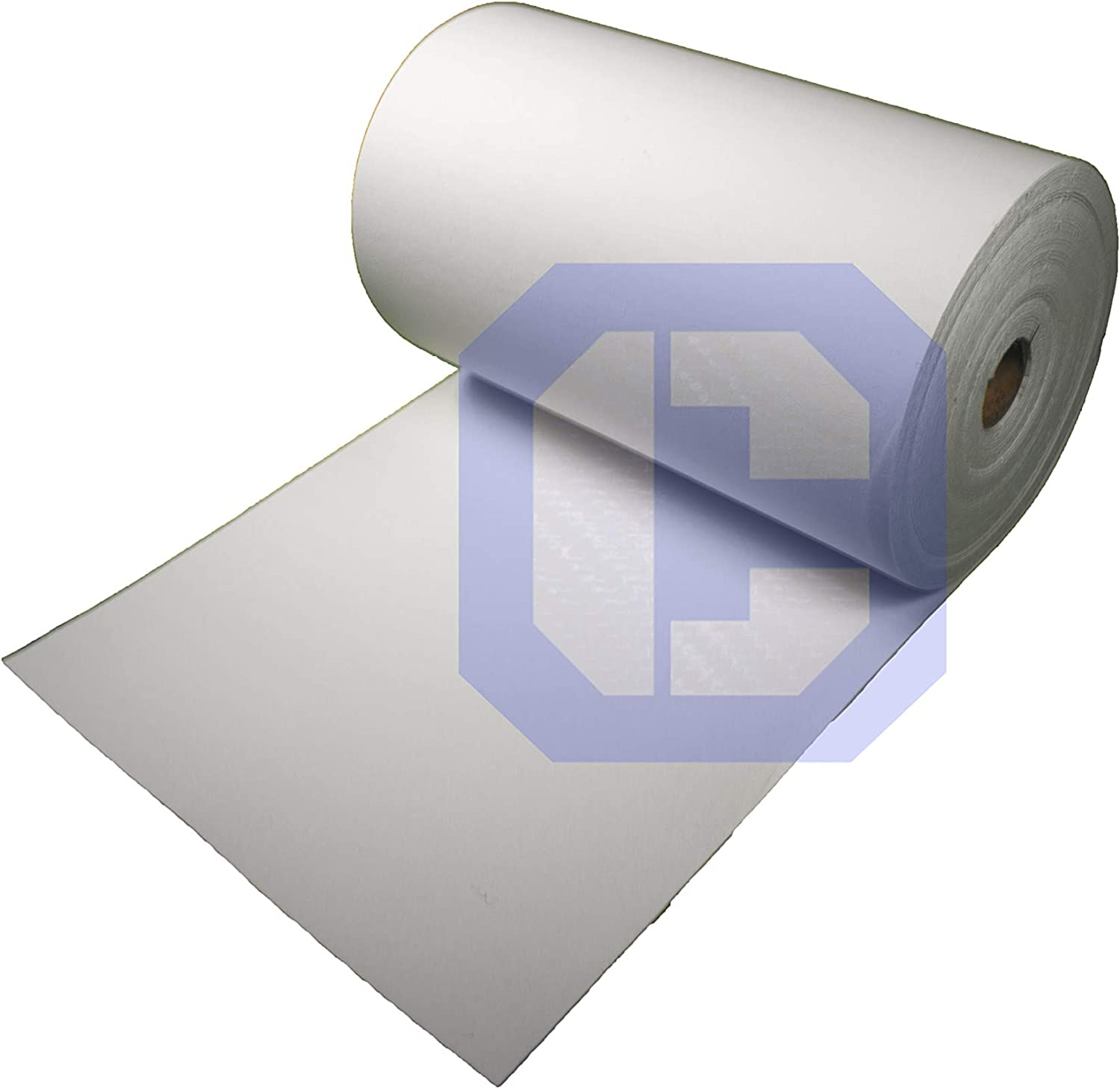 Thickness 1//4 Size 24 x 50 Roll Cera 3170 Ceramic Fiber Paper High Temperature Insulation Gasket or Liner for Kiln Stove Furnace Glass Fusing