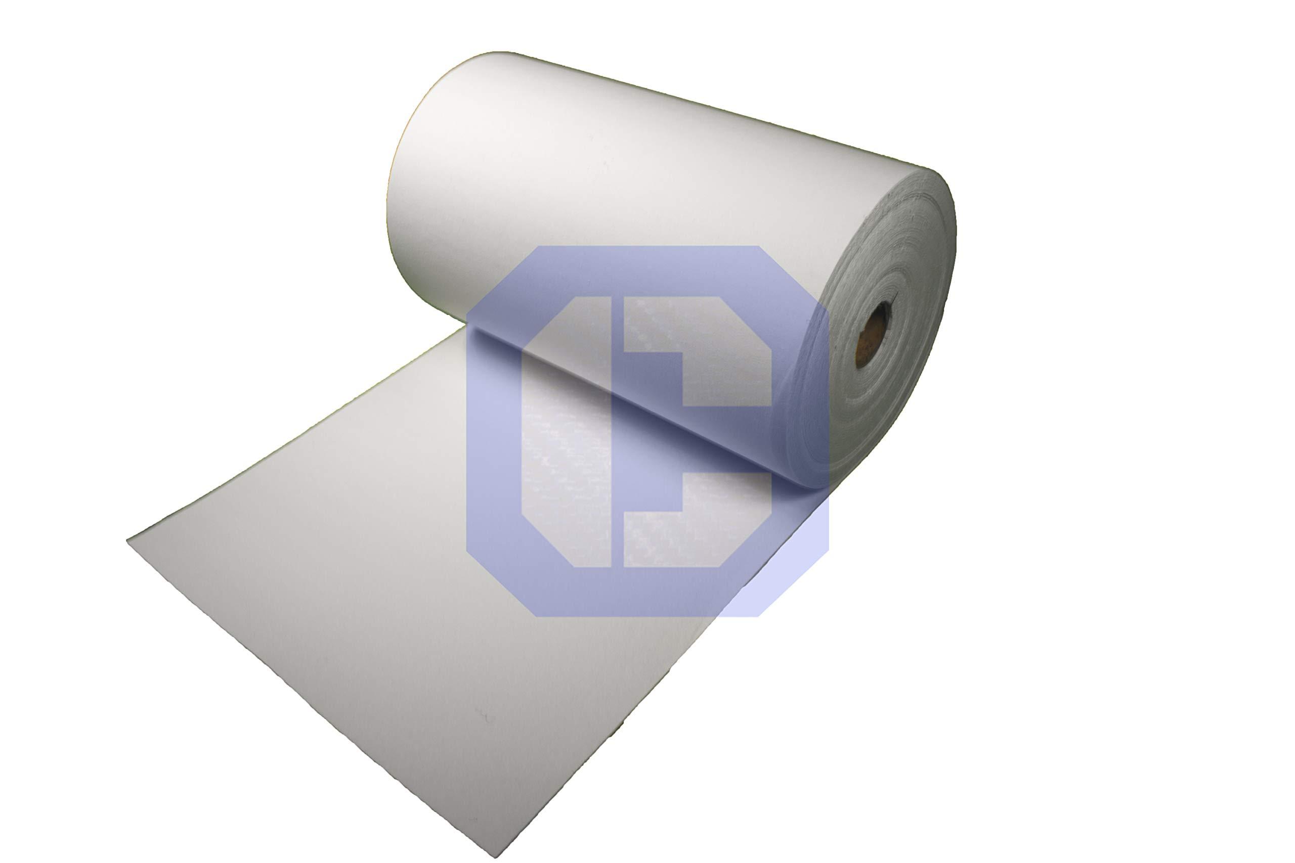 CeraMaterials Kiln Shelf Liner(Ceramic Fiber Paper)(Standard Grade)(1/4''x24''x10') by CeraMaterials