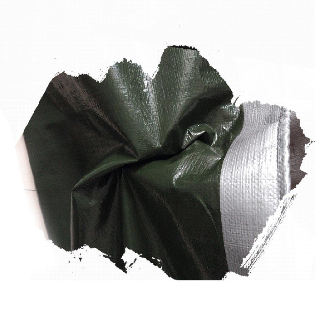LIANGJUN Telone Polietilene Doppia Faccia Impermeabile Impermeabile Impermeabile Teloni Prossoezione Solare Isolamento Termico Ispessimento ,0,38 Mm, 180g   M² (Coloreee   verde+argento, Dimensioni   5X8m) | Area di specifica completa  | Qualità Eccellente  d7b893