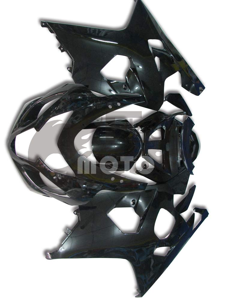 FlashMoto suzuki 鈴木 スズキ GSX-R600 GSX-R750 K4 2004 2005用フェアリング 塗装済 オートバイ用射出成型ABS樹脂ボディワークのフェアリングキットセット ブラック   B07MNG7LS5