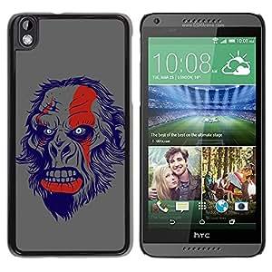LASTONE PHONE CASE / Diseño de Delgado Duro PC / Aluminio Caso Carcasa Funda para HTC DESIRE 816 / The Evil Monkey