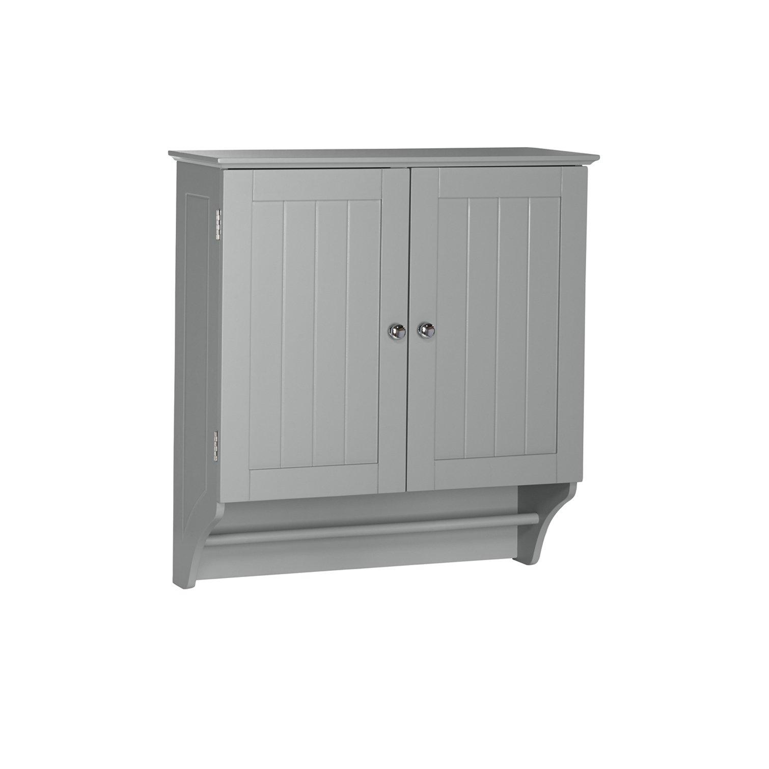 RiverRidge Ashland Collection Two-Door Wall Cabinet, Gray by RiverRidge Home
