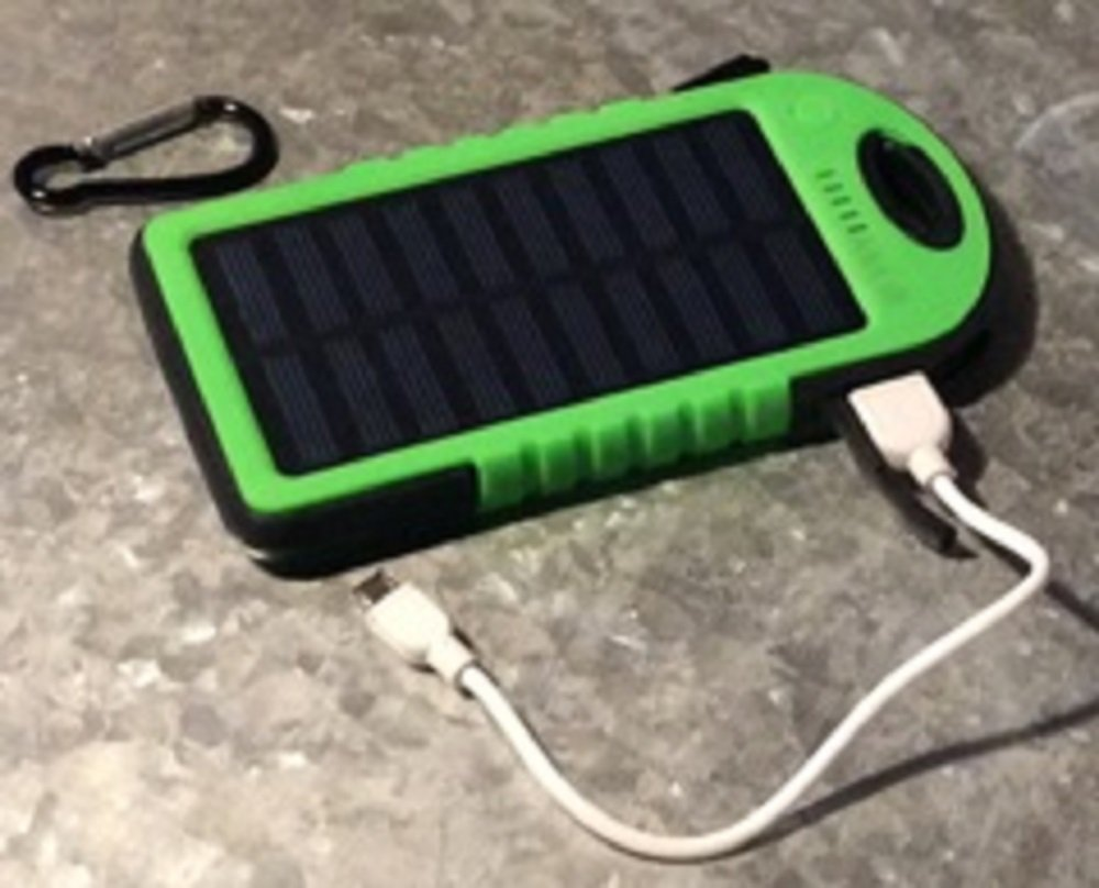Solar Charger, AAA IE 5000mAh Portable Solar Power Bank Waterproof/Dustproof/Shockproof Dual USB Battery Bank for cell phones, Windows, iPhone, Android and Samsung Phones, GPS devices & more (Green)