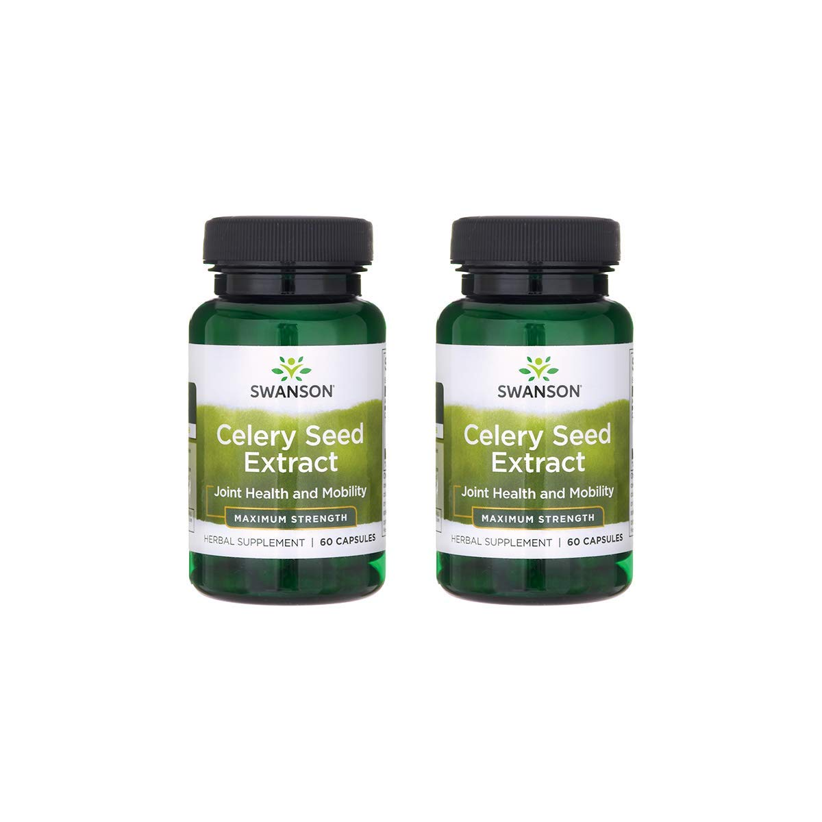 Swanson Celery Seed Extract (Cellery) Urinary Health Antioxidant Support Phytochemicals Volatile Oils Supplement Maximum Strength 150 mg 60 Capsules (2 Pack)