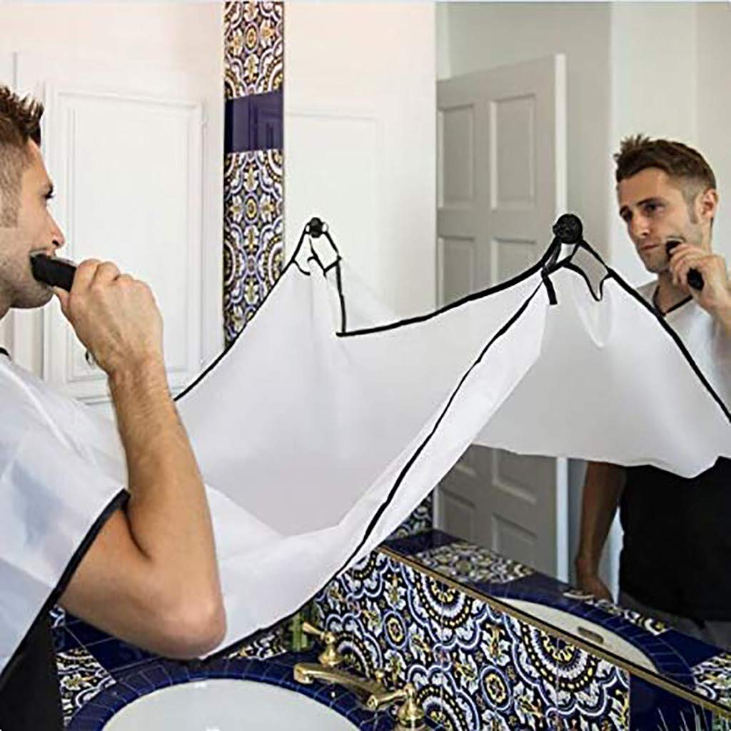 Creazy New The Apron Facial Hair Trimmings Catcher Cape Sink Home Salon Tool