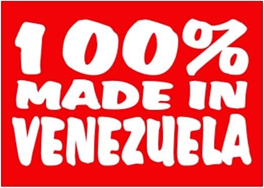 Teeburon 100 Made in Venezuela Pack de Pegatinas x4: Amazon.es: Hogar