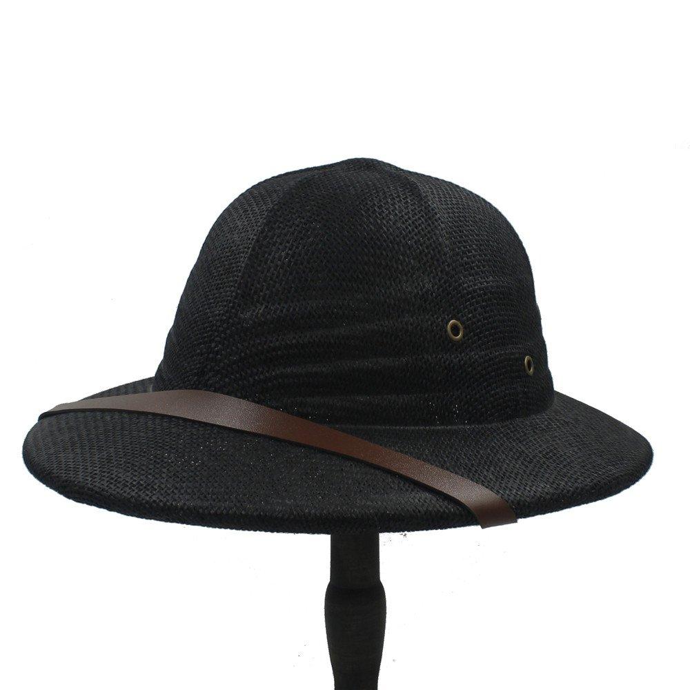 CNBEAUM Men Novelty Straw Sun Hats Dad Boater Bucket Hats Safari Jungle Miners Cap
