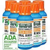 TheraBreath – Fresh Breath Oral Rinse – Icy Mint Flavor – Dentist Formulated – No Stinging or Burning – Stops Bad Breath – Gluten-Free – Certified Kosher – 3 Ounces – Six-Pack