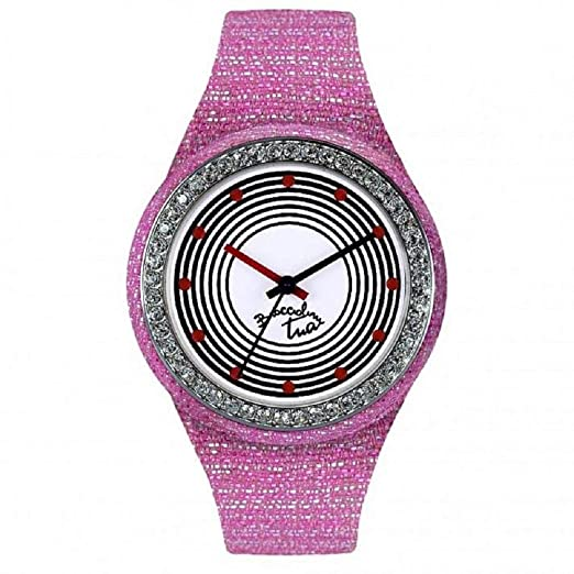 Reloj mujer silicona Glitter Gris Piedras colour touch Braccialini Tua 171s/BG: Amazon.es: Relojes