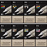 Spectrum Noir - Art + Craft Alcohol Marker Pen Graphic Nib Set - All Sets (48pk)