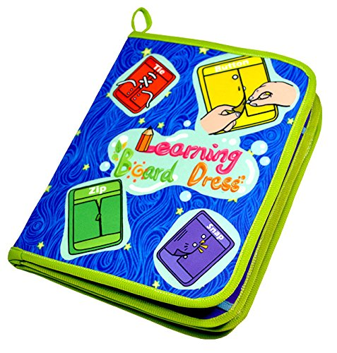 Learning Skills Toys Life (Yoovi Montessori Learn to Dress Boards Toys Quiet Book - Zip, Snap, Button, Buckle, Lace and Tie Early Learning Basic Life Skills Toys Book)