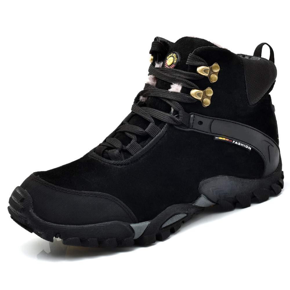 Herbst Und Winter Männer Männer Männer Warm Plus Samt Wanderschuhe Hoch Um Outdoor-Männer Schuhe Außenhandel Große Größe Walking schuhe,schwarzplusvelvet-45 df7881