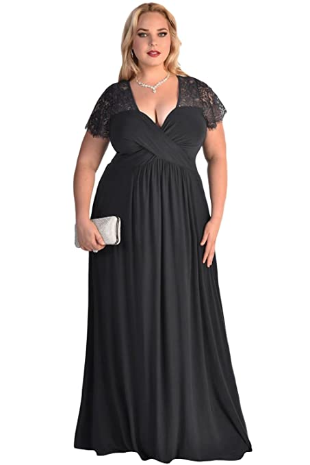 a81a168ac74 New Ladies Plus Size Black Eyelash Lace Evening Dress Special Occasion Prom  Cruise Dress Size XXL UK 14-16 EU 42-44: Amazon.co.uk: DIY & Tools