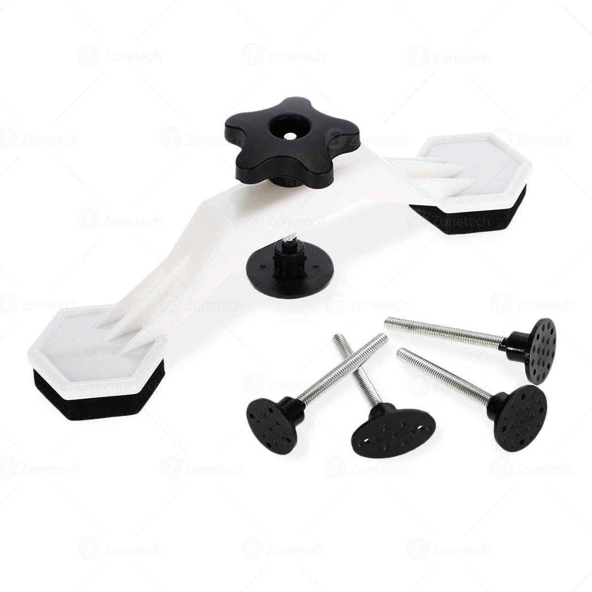 Zone Tech Car Body Dent Repair - Premium Quality Dent Bridge Puller Kit with Hot Melt Glue Gun Glue Sticks