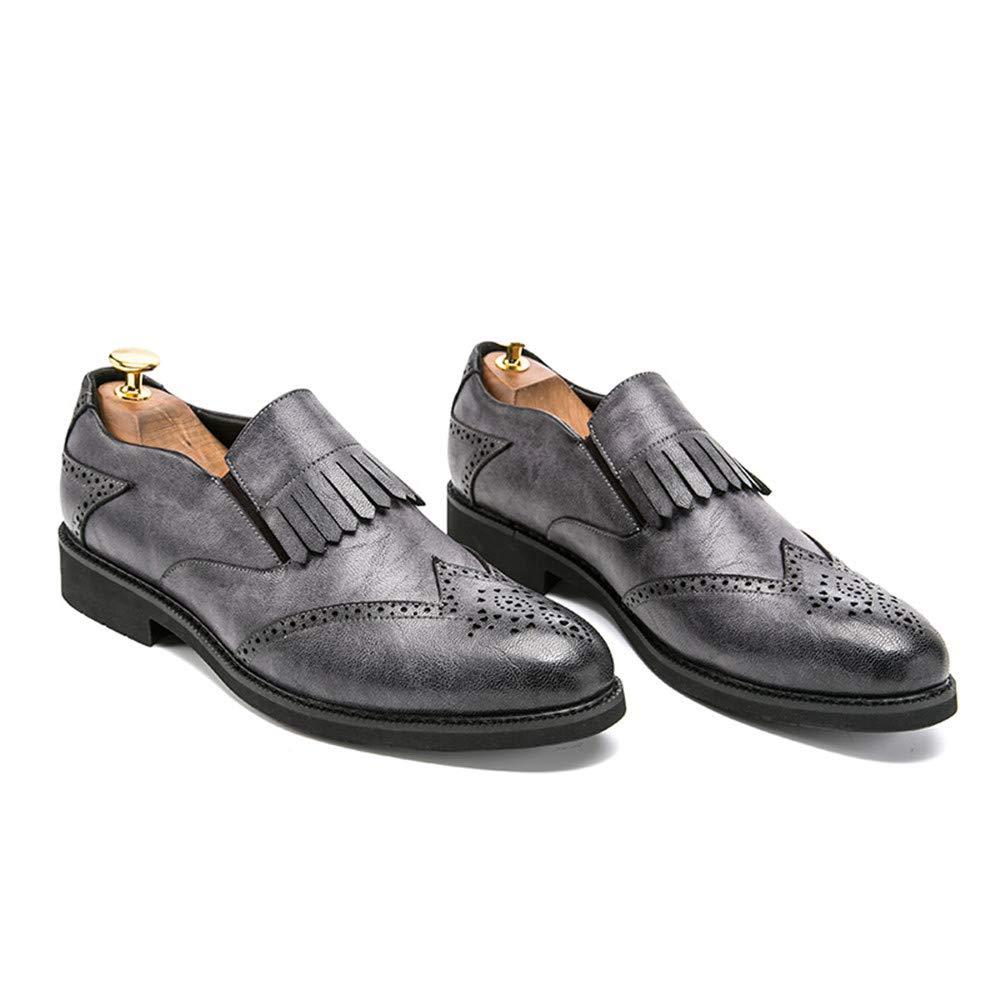 Xujw-schuhe, 2018 Schuhe Herren Oxford-Klassische Britische Art-Fringe Das Brogue-Schuhe der Männer für Das Art-Fringe Gehen, Zuhauseleben und Firma (Farbe : Braun, Größe : 42 EU) Grau a1cd8b
