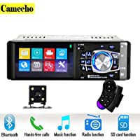 Singola autoRadio DIN, 4.1 pollici FHD 1080P Car stereo MP5 lettore Bluetooth, supporto MP3/USB/TF/FM/AM/Radio/AUX in/telecamera di retromarcia con telecomando