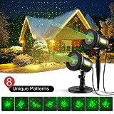 Homitt Christmas Projector Light, 8 Patterns