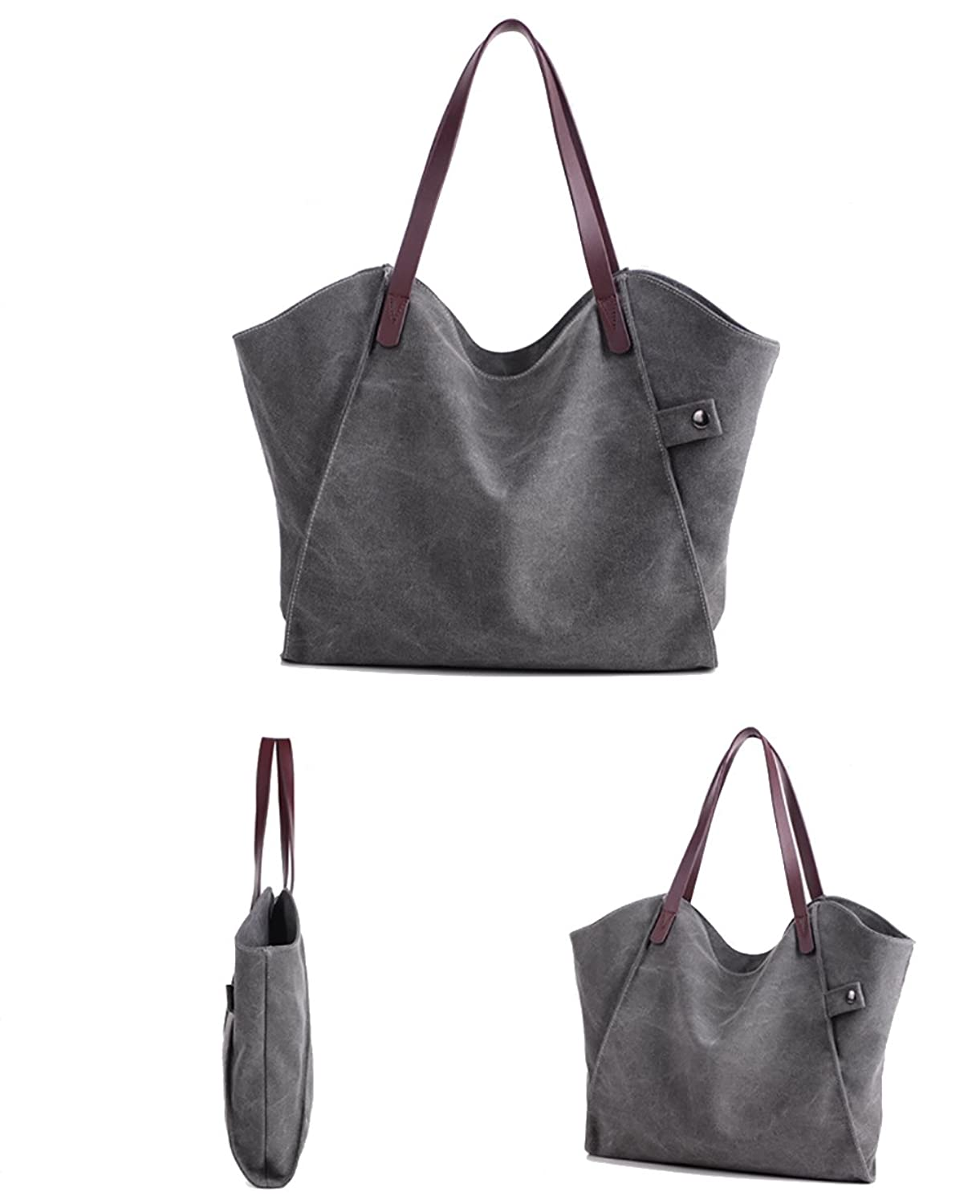 Pioneeryao Canvas Shoulder Tote Bag Casual Simple Style Daily Bag for Woman  (BEIGE): Amazon.co.uk: Shoes & Bags