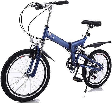 DRAKE18 Bicicleta Plegable, Bicicleta de montaña 20 Pulgadas 7 ...