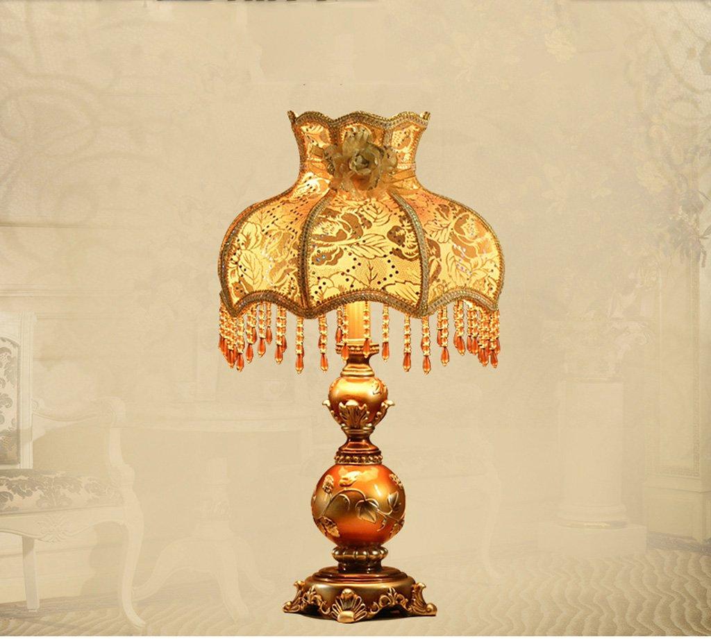 MILUCE European Style Table Lamp Princess Pastoral Bedroom Bedside Lamp Wedding Decoration Lamp