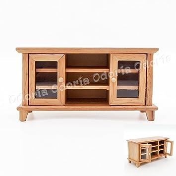 Amazon.es: Odoria 1/12 Miniatura TV Banco Muebles para Casa de ...