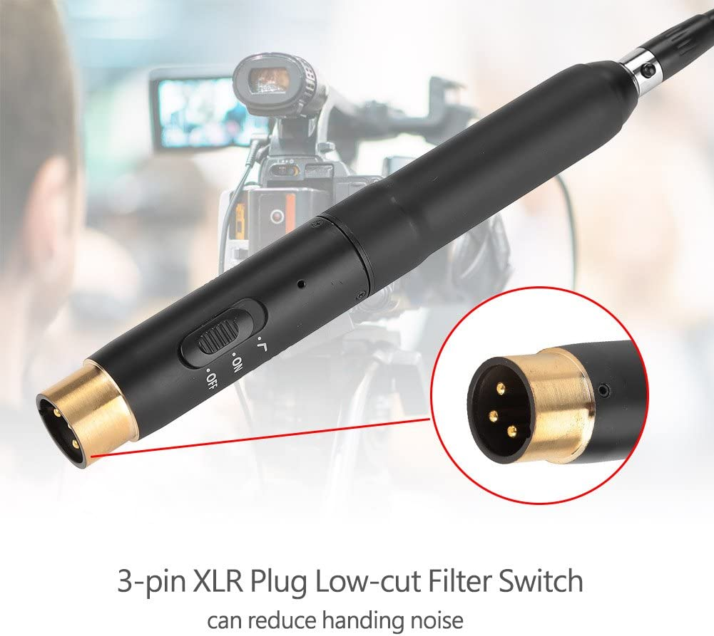 etc Broadcasting Film Video BY-M11C Lavalier Microphone,Professional Lapel Clip Condenser Cardioid Pattern MIC with 3-Pin XLR Plug and Windscreen for Theater